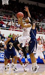 March 20, 2010; Stanford, CA, USA; Stanford Cardinal guard Melanie Murphy (0) shoots against the UC Riverside Highlanders during the first half in the first round of the 2010 NCAA womens basketball tournament at Maples Pavilion.  Stanford defeated UC Riverside 79-47.