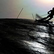 Adam Barwood, New Zealand, in action during the Men's Slalom event during the Winter Games at Cardrona, Wanaka, New Zealand, 24th August 2011. Photo Tim Clayton...