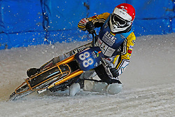13.03.2016, Assen, BEL, FIM Eisspeedway Gladiators, Assen, im Bild Max Niedermaier (GER) // during the Astana Expo FIM Ice Speedway Gladiators World Championship in Assen, Belgium on 2016/03/13. EXPA Pictures &copy; 2016, PhotoCredit: EXPA/ Eibner-Pressefoto/ Stiefel<br /> <br /> *****ATTENTION - OUT of GER*****