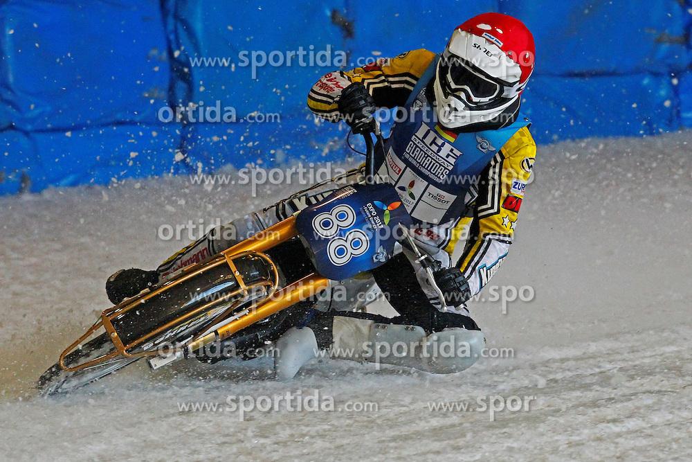 13.03.2016, Assen, BEL, FIM Eisspeedway Gladiators, Assen, im Bild Max Niedermaier (GER) // during the Astana Expo FIM Ice Speedway Gladiators World Championship in Assen, Belgium on 2016/03/13. EXPA Pictures © 2016, PhotoCredit: EXPA/ Eibner-Pressefoto/ Stiefel<br /> <br /> *****ATTENTION - OUT of GER*****