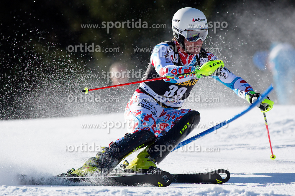 LIZEROUXJulien of France during the 1st Run of Men's Slalom - Pokal Vitranc 2014 of FIS Alpine Ski World Cup 2013/2014, on March 9, 2014 in Vitranc, Kranjska Gora, Slovenia. Photo by Matic Klansek Velej / Sportida