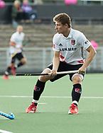 AMSTELVEEN -  Jan-Willem Buissant (A'dam)  tijdens Amsterdam-Tilburg (4-2), competitie Hoofdklasse hockey heren   (2017-2018) . COPYRIGHT KOEN SUYK