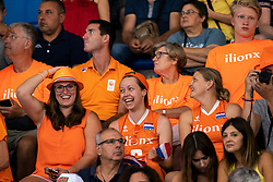03-08-2019 ITA: FIVB Tokyo Volleyball Qualification 2019 / Netherlands, - Kenya Catania<br /> 3rd match pool F in hall Pala Catania between Netherlands - Kenya. Netherlands win 3-0 / Orange support fans family