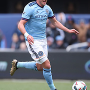 NEW YORK, NEW YORK - April 12: Jack Harrison #11 of New York City FC in action during the New York City FC Vs San Jose Earthquakes regular season MLS game at Yankee Stadium on April 1, 2017 in New York City. (Photo by Tim Clayton/Corbis via Getty Images)