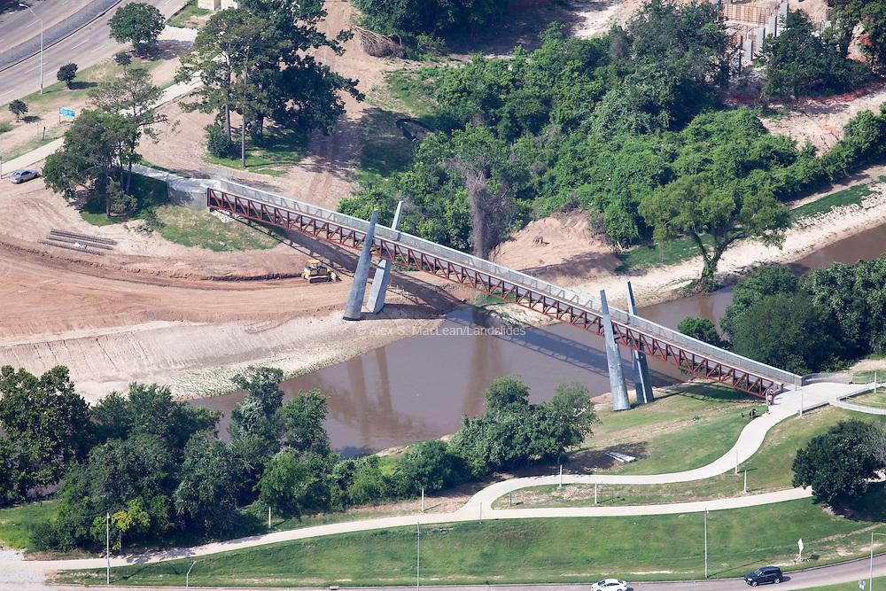 Jackson Hill pedestrian bridge over the Buffalo Bayou