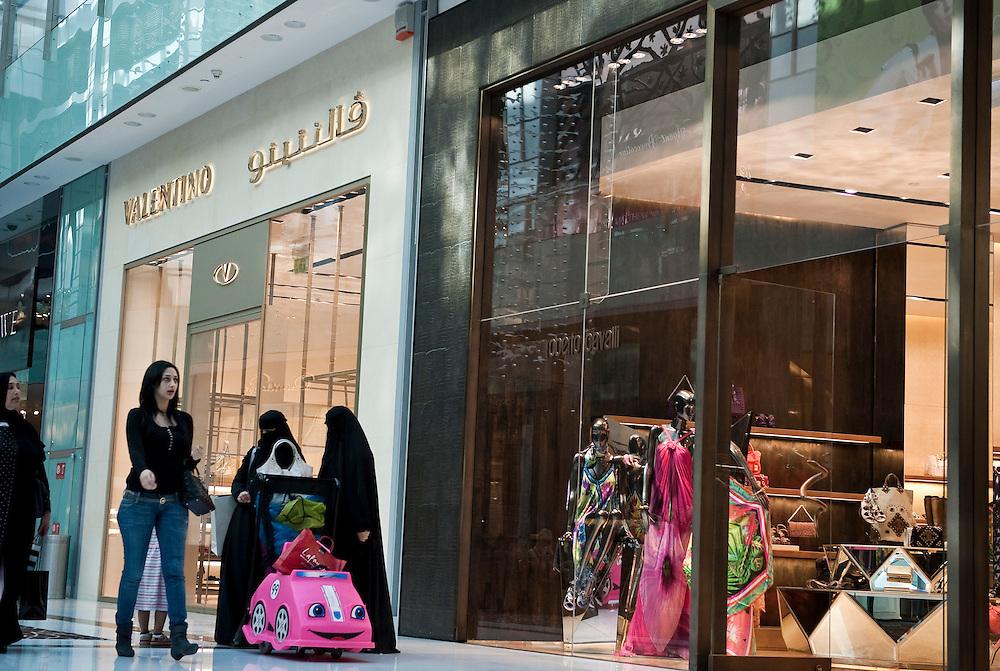 Shoppers at Dubai Mall,Dubai, UAE on February 10,2010