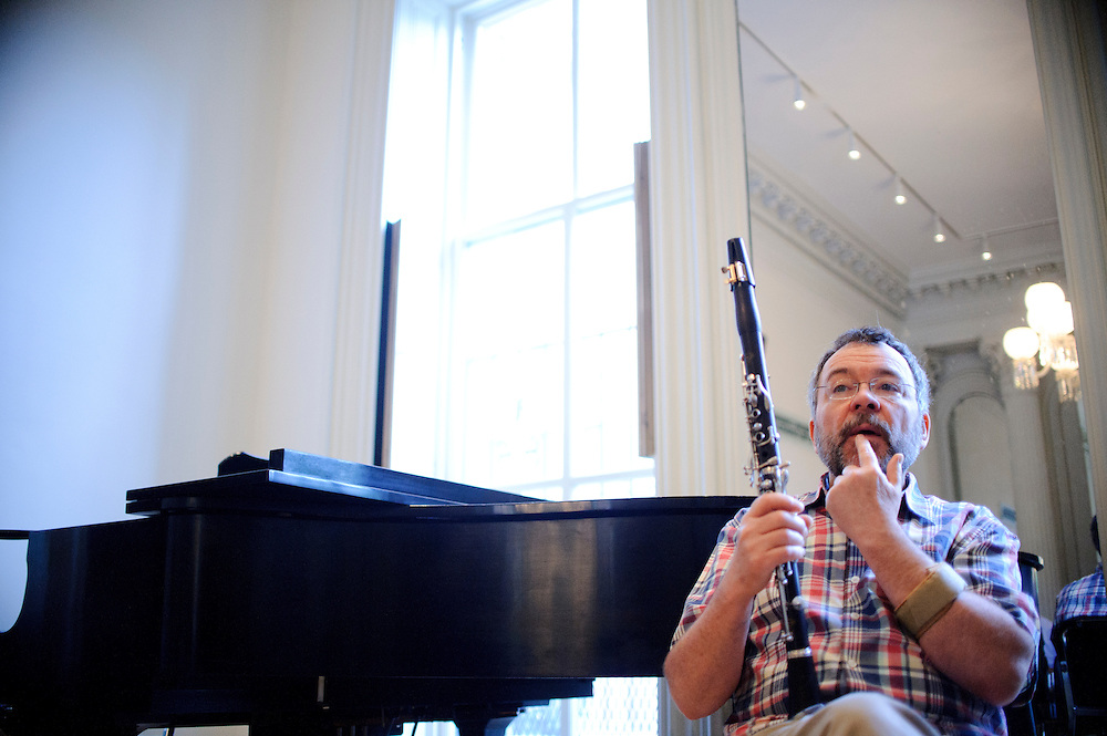 (photo by Matt Roth).Assignment ID: 30127886A..Baltimore Symphony Orchestra principal clarinet player Steven Barta leads a woodwind master class during the third annual BSO Academy at the Baltimore School for the Arts Sunday, June 24, 2012. ..