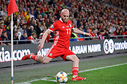 Wales midfielder Jonathan Williams during the UEFA European 2020 Qualifier match between Wales and Azerbaijan at the Cardiff City Stadium, Cardiff, Wales on 6 September 2019.