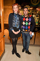 DJ, songwriter, record producer and musician NAUGHTY BOY and KATE ROTHSCHILD at the opening night of Amaluna by Cirque Du Soleil at The Royal Albert Hall, London on 19th January 2016.