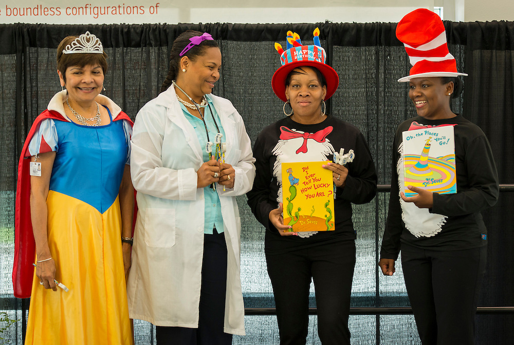Houston ISD staff dress as their favorite literary character during the Summer Leadership Institute at Reliant Center, June 18, 2014.