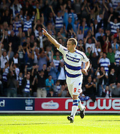 Loftus Road, London - Saturday 11th September 2010: Heidar Helguson (9) of QPR celebrates scoring their first goal from the spot during the Npower Championship match between Queens Park Rangers and Middlesborough. (Photo by Andrew Tobin/Focus Images)