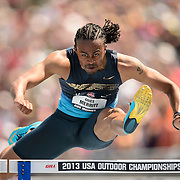 The USA track & field championships in Des Moines, Iowa-Day 3:  Aries Merrit competes in the men's 110 meter hurdles preliminary round.