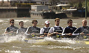 Putney, London, ENGLAND, 28.03.2006, Oxford training outing left to right, Robin Esjmond-Frey, 2. Colin Smith, 3 Tom Parker, 4. Paul Daniels. 5. Jamie Schroeder, 6. Barney Williams, 7 Jake Wetzel, 2006, Boat Race, Varsity, Tideway Week, Tuesday,  © Peter Spurrier/Intersport-images.com.[Mandatory Credit Peter Spurrier/ Intersport Images] Varsity, Boat race. Rowing Course: River Thames, Championship course, Putney to Mortlake 4.25 Miles