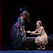 Pacific Music Works and UW School of Music production of Magic Flute. Pamina and The Queen of the Night.