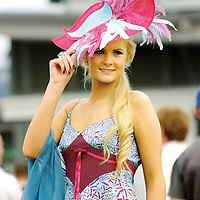 3 August 2006; Jill Macken, from Navan, Co. Meath, winner of the Best Dressed Lady competition. Galway Races, Ballybrit, Co. Galway. Picture credit; Matt Browne / SPORTSFILE