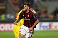 Milano - 28.09.2017 - Milan-Rijeka - Europa League   - nella foto:   Patrick Cutrone esulta dopo il gol del 3 a 2
