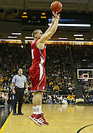 January 19 2013: Wisconsin Badgers guard Ben Brust (1) puts up a shot during the second half of the NCAA basketball game between the Wisconsin Badgers and the Iowa Hawkeyes at Carver-Hawkeye Arena in Iowa City, Iowa on Sautrday January 19 2013. Iowa defeated Wisconsin 70-66.