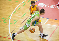Domen Lorbek of Slovenia during friendly match between National teams of Slovenia and Republic of Macedonia for Eurobasket 2013 on July 28, 2013 in Litija, Slovenia. (Photo by Vid Ponikvar / Sportida.com)