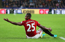 Luis Antonio Valencia of Manchester United appeals to the linesman - Mandatory by-line: Matt McNulty/JMP - 27/08/2016 - FOOTBALL - KC Stadium - Hull, England - Hull City v Manchester United - Premier League