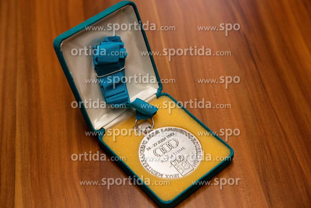 Natasa Erjavec, former Slovenian Shot Put athlete won silver medal at 1993 Mediterranean Games in Languedoc-Roussillon, France. Photo taken on November 6, 2019, in Ljubljana, Slovenia. Photo by Vid Ponikvar / Sportida