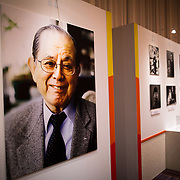 "TOKYO, JAPAN - MARCH 21 : Photo exhibition dedicated to the late Masaya Nakamura, The founder of video game company Bandai Namco and known as the ""father"" of Pac-Man during the memorial ceremony in Tokyo, Japan on March 21, 2017. (Photo by Richard Atrero de Guzman ANADOLU Agency)"
