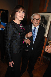 American writer DOMINICK DUNNE and MARGARIETTE LITTMAN at an auction in aid of The Parkinson's Appeal for Deep Brain Stimulation 'Meeting of Minds' held at Christie's, King Street, London SW1 followed by a dinner at St.John, 26 St.John Street, London on 16th October 2007.<br /><br />NON EXCLUSIVE - WORLD RIGHTS