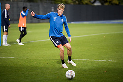 October 12, 2018 - Gent, BELGIUM - Eric Smith pictured in action during a training session of Belgian soccer team KAA Gent, Friday 12 October 2018, in Gent. BELGA PHOTO JASPER JACOBS (Credit Image: © Jasper Jacobs/Belga via ZUMA Press)