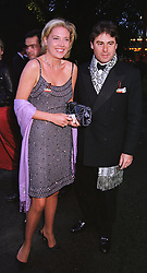 MISS ZOE APPLEYARD former close friend of comedian Rory Bremner, and MR BERTRAND LIPWORTH, at a party in London on 5th June 1999.MSX 85
