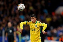 Jonathan Silva of Sporting takes a throw in - Photo mandatory by-line: Rogan Thomson/JMP - 07966 386802 - 10/12/2014 - SPORT - FOOTBALL - London, England - Stamford Bridge - Sporting Clube de Portugal - UEFA Champions League Group G.