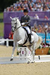 Munoz Diaz, Juan Manuel, Fuego<br /> London - Olympische Spiele 2012<br /> <br /> Dressur Grand Prix de Dressage<br /> © www.sportfotos-lafrentz.de/Stefan Lafrentz