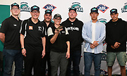 Group photo as the new Auckland Tuatara baseball team is announced to play in the Australian Baseball League at the Centre for Conservaion Medicine at Auckland Zoo. New Zealand. Monday 27 August 2018. © Copyright Image: Andrew Cornaga / www.photosport.nz