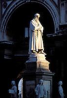 Leonardo da Vinci - Scala square - Milan - Lombardia - Italy