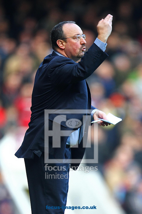 Picture by Paul Chesterton/Focus Images Ltd +44 7904 640267.01/12/2012.Chelsea Manager Rafael Benitez during the Barclays Premier League match at the Boleyn Ground, London.