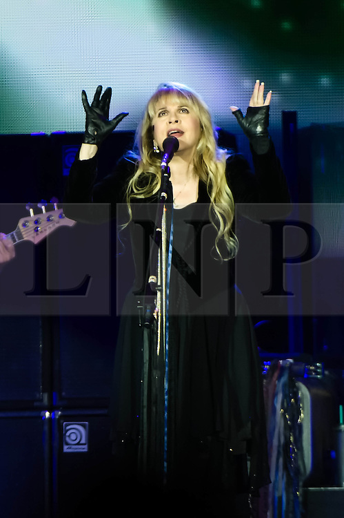 © Licensed to London News Pictures. 24/09/2013. London, UK.   Stevie Nicks of Fleetwood Mac performing live at The O2 Arena. Fleetwood Mac are a British-American rock band formed in 1967 in London consisting of Mick Fleetwood (drums), John McVie (bass), Lindsey Buckingham (guitar/vocals) and Stevie Nicks (vocals).  Photo credit : Richard Isaac/LNP