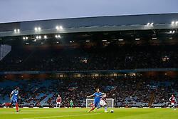 A general view as Carlos Sanchez of Aston Villa is challenged by David Mooney of Leyton Orient - Photo mandatory by-line: Rogan Thomson/JMP - 07966 386802 - 27/08/2014 - SPORT - FOOTBALL - Villa Park, Birmingham - Aston Villa v Leyton Orient - Capital One Cup Round 2.