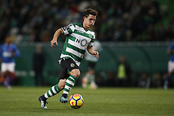 December 1, 2017 - Lisbon, Portugal - Sporting's forward Daniel Podence in action  during Primeira Liga 2017/18 match between Sporting CP vs CF Belenenses, in Lisbon, on December 1, 2017. (Credit Image: © Carlos Palma/NurPhoto via ZUMA Press)