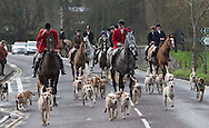The traditional Boxing Day hunt in Blandford Forum in Dorset