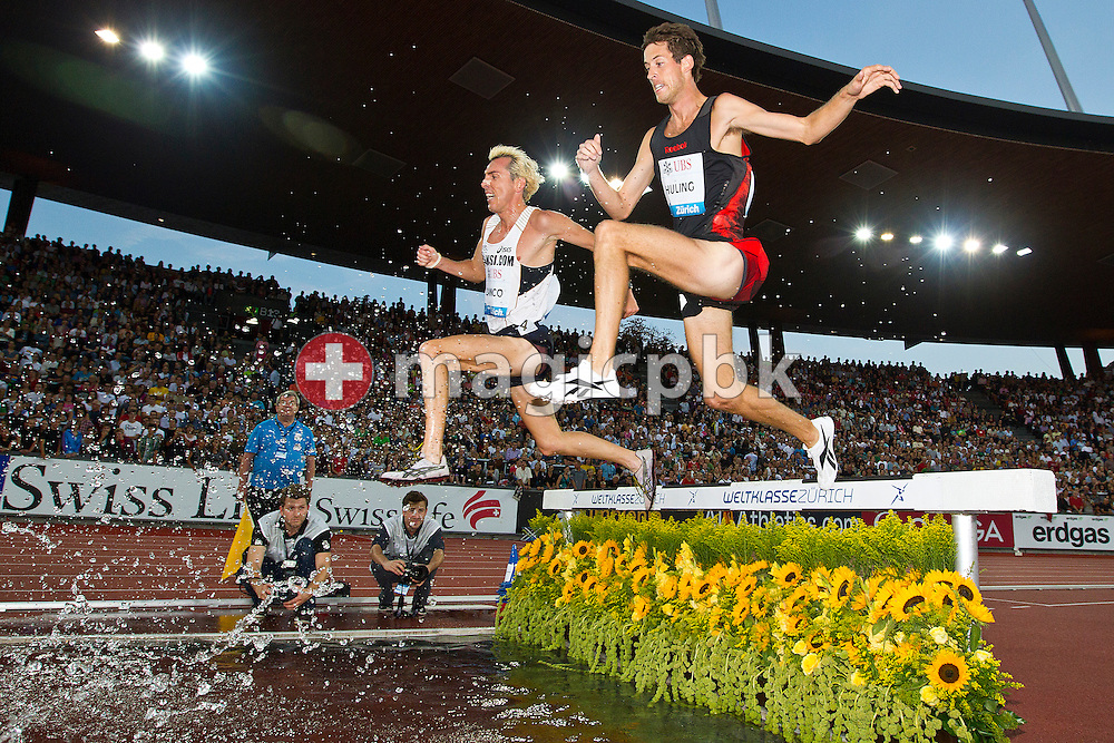 (L-R) Jose Luis BLANCO of Spain and Daniel HULING of the USA compete in the men's 3000m Steeple Chase during the IAAF Diamond League meeting at the Letzigrund Stadium in Zurich, Switzerland, Thursday, Aug. 19, 2010. (Photo by Patrick B. Kraemer / MAGICPBK)
