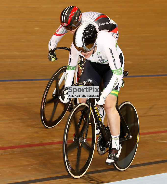 UCI Track Cycling World Cup Glasgow 4th - 6th November 2016. Holly Tacos (AUS) in the qualifying session for Women's sprint 1/8 finals .....(c) STEPHEN LAWSON | SportPix.org.uk