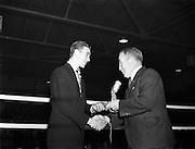 26/09/1952<br /> 09/26/1952<br /> 26 September 1952<br /> Red Cross Boxing event, Corinthians vs Scottish boxers. The bouts at the National Stadium.