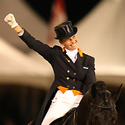 Anky van Grunsven and IPS Painted Black at the Exquis World Dressage Masters in Wellington, Florida.