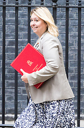 London, September 5th 2017. Secretary of State for Culture, Media and Sport Karen Bradley attends the first UK cabinet meeting at Downing Street after the summer recess. ©Paul Davey