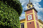 The Museo Tuxtleco viewed from Parque Olmeca in Santiago Tuxtla, Veracruz, Mexico.