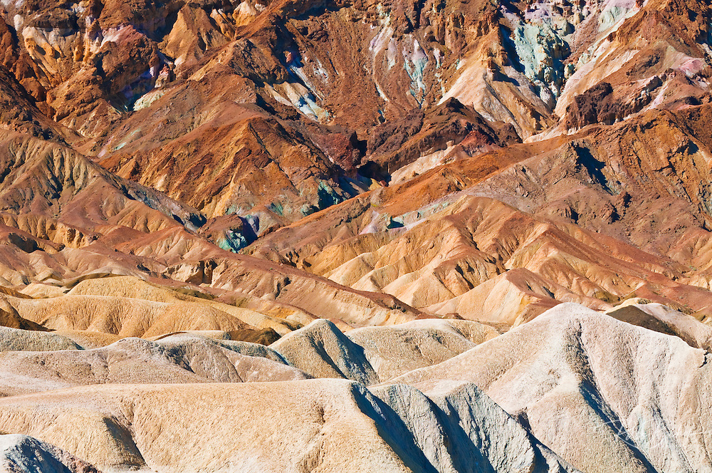 Eroded hills at Zabriskie Point, Death Valley National Park. California
