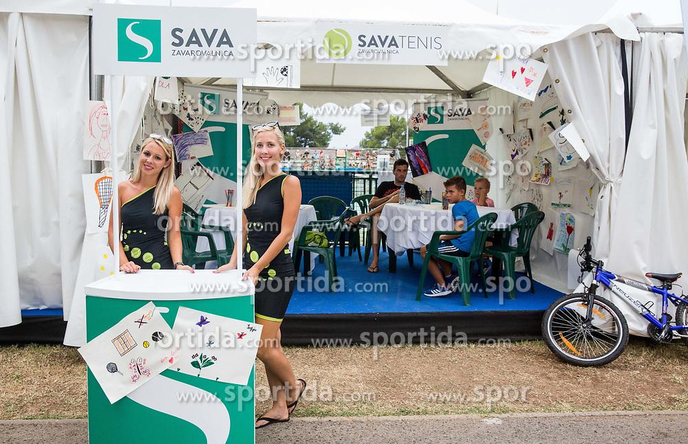 Zavarovalnica Sava during ATP Challenger Zavarovalnica Sava Slovenia Open 2017, on August 10, 2017 in Sports centre, Portoroz/Portorose, Slovenia. Photo by Vid Ponikvar / Sportida
