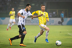 Žiga Kous of NŠ Mura and Rudi Požeg Vancaš of Maribor during football match between NŠ Mura and NK Maribor in 4th Round of Prva liga Telekom Slovenije 2019/20, on Avgust 3, 2019 in Fazanerija, Murska Sobota, Slovenia. Photo by Blaž Weindorfer / Sportida