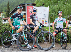 11.06.2019, Kals am Grossglockner, AUT, Laura Stigger Bike Challenge, Pressekonferenz, im Bild Patrick Konrad (BORA Team), Laura Stigger, Lukas Pöstlberger (BORA Team) // Patrick Konrad (BORA Team), Laura Stigger, Lukas Pöstlberger (BORA Team) during a press conference for the Laura Stigger Bike Challenge in Kls am Grossglockner. Austria on 2019/06/11. EXPA Pictures © 2019, PhotoCredit: EXPA/ Johann Groder