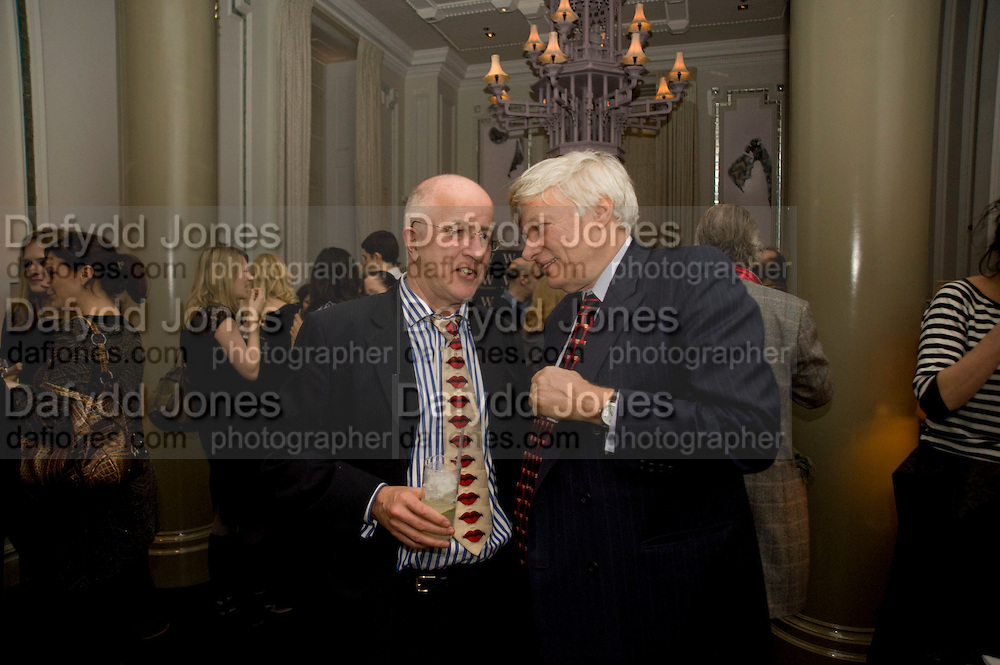 HON DENIS MACSHANE M.P. ; GEOFFREY ROBERTSON. Book party; Jessica Adams, Maggie Alderson, Imogen Edwards-Jones and Kathy Lette host the launch of 'In Bed With.' Artesian, The Langham, Portland Place. London. 11 February 2009