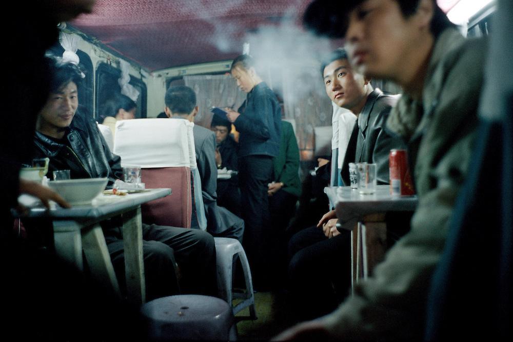 Bus bar. Sino Russian border. Dongning, China. 2001