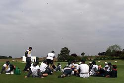PRACTICE FOR THE FIRST TEST..Shenley Cricket Ground, Radlett, Hertfordshire. The Zimbabwe Cricket Team practice for the first test, May 16, 2000. Photo by Andrew Parsons / i-images..